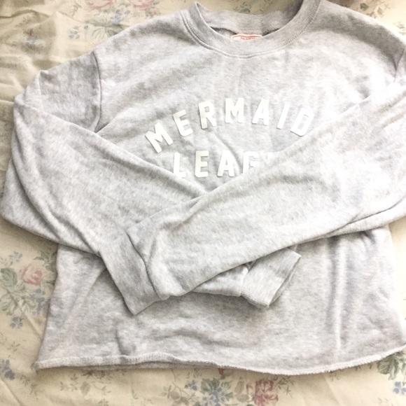 caba7ecf Pull&Bear Tops | Pull Bear Grey Mermaid League Sweatshirt | Poshmark